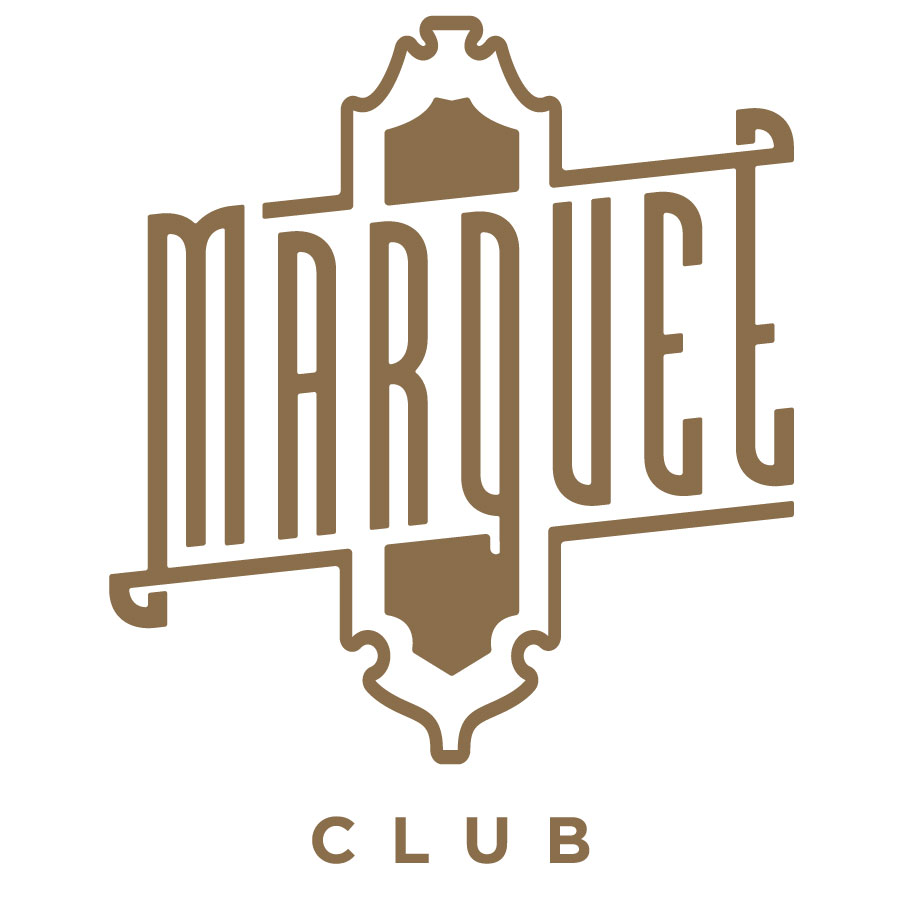 Marquee Club Badge Logo - Brown