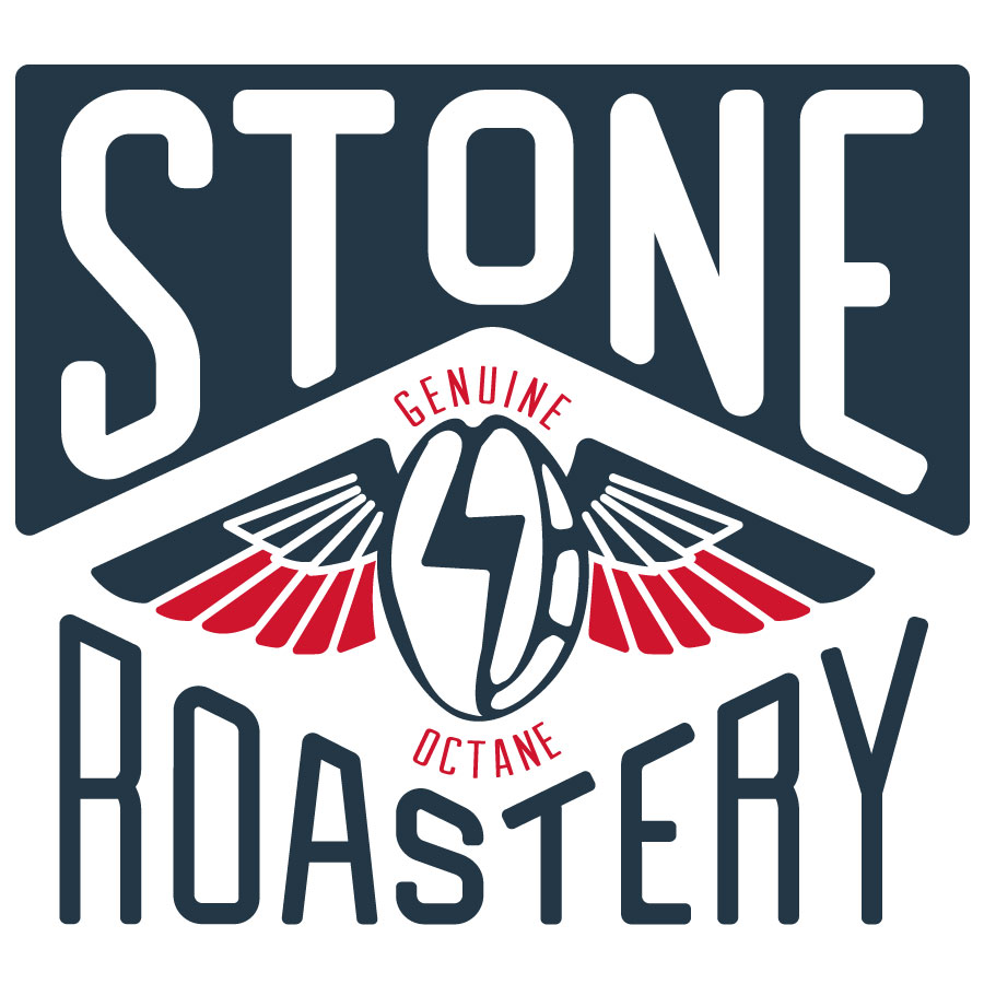 Stone Roastery Coffee Bean Logo