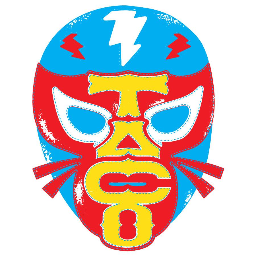 Taco Cat Luchador Mask Logo