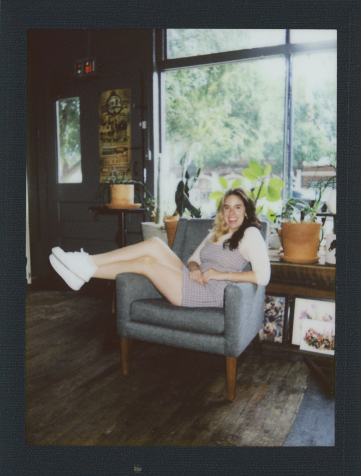 Christy Flaherty mad relaxing by the window