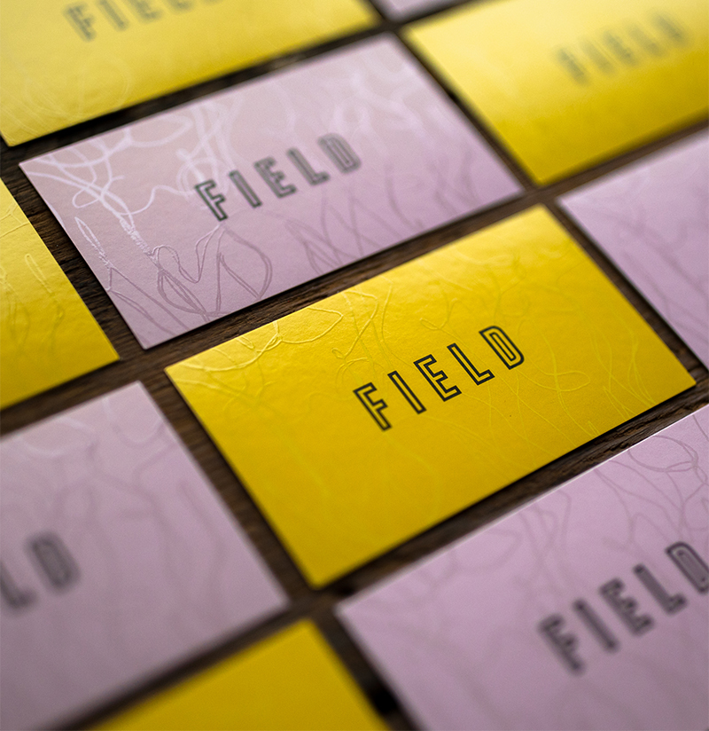 Field Botanical - Yellow and Pink Business Cards