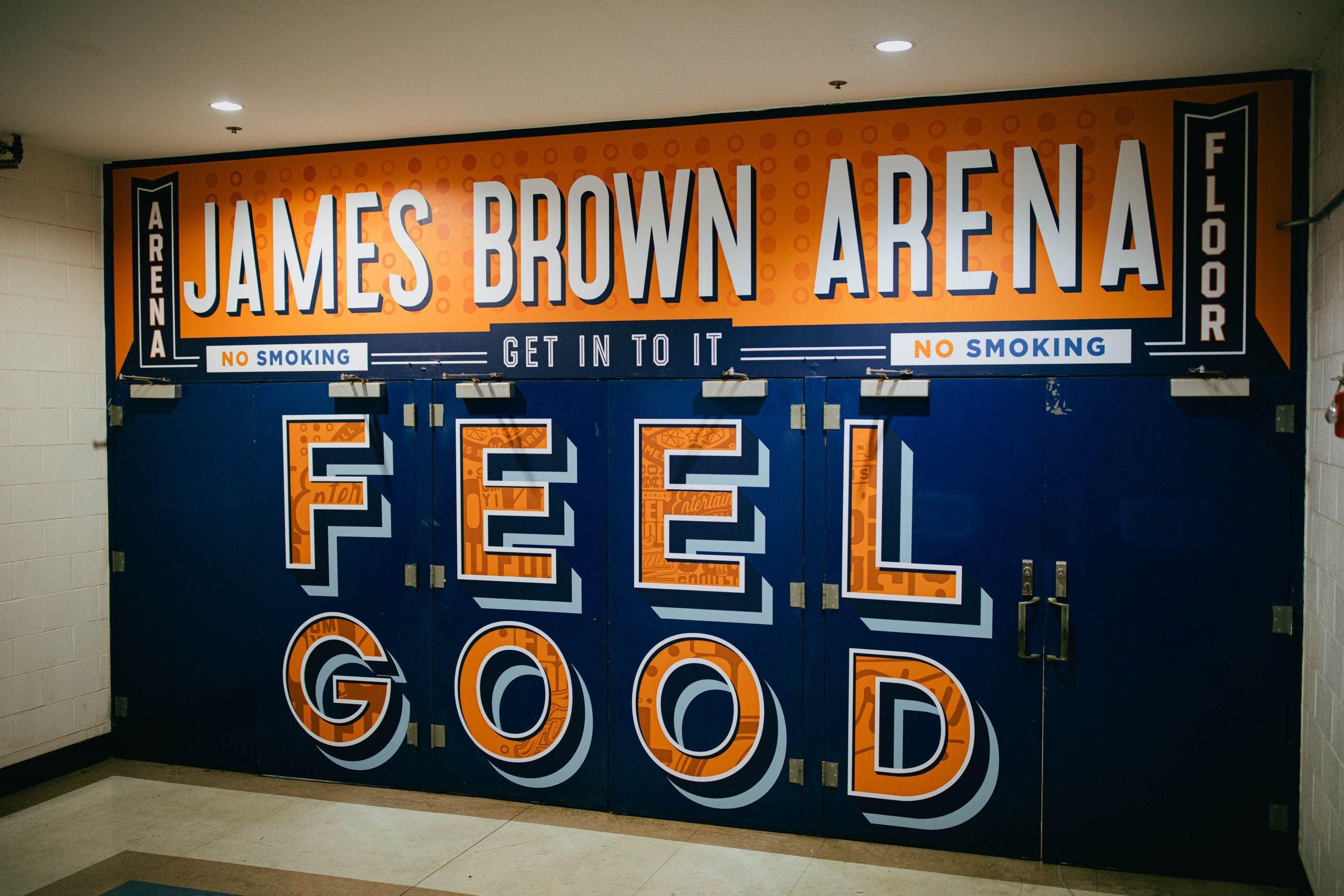 James Brown Arena Door Designs - Feel Good