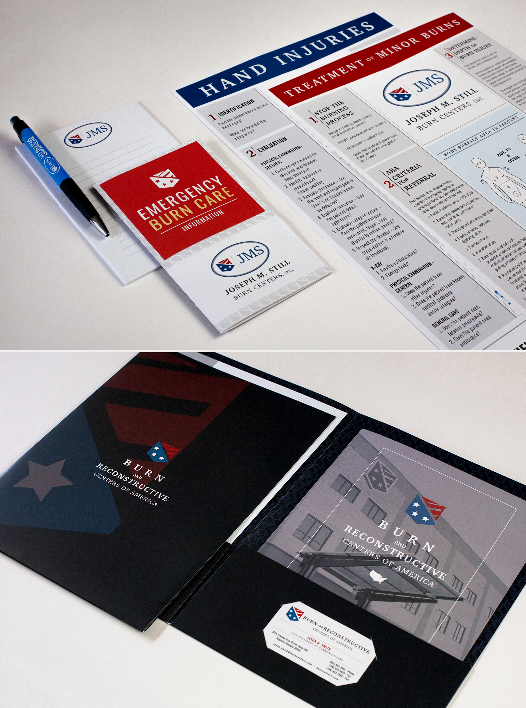 Burn and Reconstructive Center of America - Packet Design